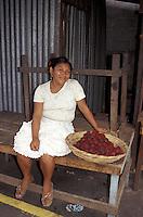 Woman selling fruit in the Mercado Municipal, Masaya, Nicaragua
