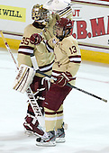 (Milner) Johnny Gaudreau (BC - 13) - The Boston College Eagles defeated the visiting Northeastern University Huskies 3-0 after a banner-raising ceremony for BC's 2012 national championship on Saturday, October 20, 2012, at Kelley Rink in Conte Forum in Chestnut Hill, Massachusetts.