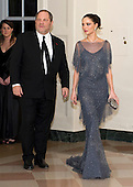 Harvey Weinstein and Georgina Chapman arrive for the Official Dinner in honor of Prime Minister David Cameron of Great Britain and his wife, Samantha, at the White House in Washington, D.C. on Tuesday, March 14, 2012..Credit: Ron Sachs / CNP.(RESTRICTION: NO New York or New Jersey Newspapers or newspapers within a 75 mile radius of New York City)