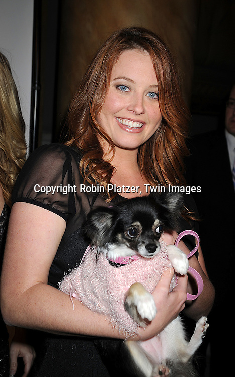 Melissa Archer and her dog Ginger..at The North Shore Animal League America's 2008 DogCatemy Celebrity Gala on November 6, 2008 at Capitale in New York City. ....Robin Platzer, Twin Images