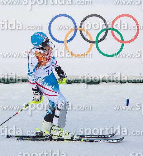14.02.2014, Rosa Khutor Alpine Center, Krasnaya Polyana, RUS, Sochi 2014, Super- Kombination, Herren, Slalom, im Bild Matthias Mayer (AUT) // Matthias Mayer of Austria during the Slalom of the mens Super Combined of the Olympic Winter Games 'Sochi 2014' at the Rosa Khutor Alpine Center in Krasnaya Polyana, Russia on 2014/02/14. EXPA Pictures © 2014, PhotoCredit: EXPA/ Johann Groder