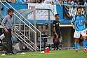 (L to R) Yasutoshi Miura (Giravanz), Kazuyoshi Miura (Yokohama FC), JULY 24, 2011 - Football : 2011 J.LEAGUE Division 2 between Yokohama FC 1-2 Giravanz Kitakyushu at NHK Spring Mitsuzawa Football Stadium, Kanagawa, Japan.(Photo by YUTAKA/AFLO SPORT) [1040]