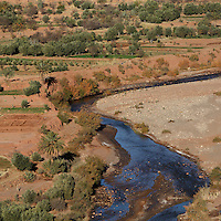 Oued Marghen river, Ounila Valley, Ait Ben Haddou, Ouarzazate province, Morocco. Picture by Manuel Cohen