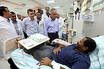 Palestinian Prime Minister Salam Fayyad visits the new hospital in the occupied West Bank city of Jericho on September 30, 2012. Photo by Mustafa Abu Dayeh