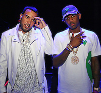 NEW ORLEANS, LA - JULY 3, 2016 French Montana & Fabolous backstage at Essence Festival at Mercedes Benz Superdome, July 3, 2016 in New Orleans, Louisiana. Photo Credit: Walik Goshorn / Media Punch