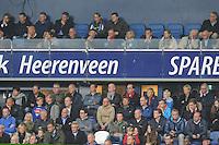 VOETBAL: HEERENVEEN: Abe Lenstra Stadion 18-10-2015, SC Heerenveen - Feyenoord, uitslag 2-5, achter glazelwand, Jelco van der Wiel (midden), Foppe de Haan (geheel rechts), Jaap Schuurmans (geheel links), ©foto Martin de Jong
