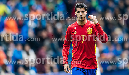 01.06.2016, Red Bull Arena, Salzburg, AUT, Testspiel, Spanien vs Suedkorea, im Bild Alvaro Morata (ESP) // Alvaro Morata of Spain during the International Friendly Match between Spain and South Korea at the Red Bull Arena in Salzburg, Austria on 2016/06/01. EXPA Pictures © 2016, PhotoCredit: EXPA/ JFK