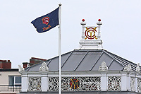 The Essex flag flies alongside the MCC crest during Middlesex CCC vs Essex CCC, Specsavers County Championship Division 1 Cricket at Lord's Cricket Ground on 21st April 2017