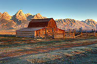 Sunrise on Mormon Barn, Grand Teton National Park
