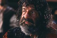 April, 1985. El Kantaoui, Tunisia. Walter Matthau (October 1, 1920 - July 1, 2000) on the set of the film The Pirates, directed by Roman Polanski.