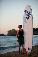 Marketing director for Roxy,  Stine Brun Kjeldaas, is a former snowboard professional and Olympic silver medalist. The company's European headquarters are located near Biarritz, France, making it possible for Stine to enjoy surfing along the Basque coast.