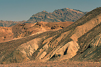 Death Valley National Park, California, CA, USA - View of Alluvial Fan, Eroded Landscape, and Mountains, from Zabriskie Point in the Amargosa Range