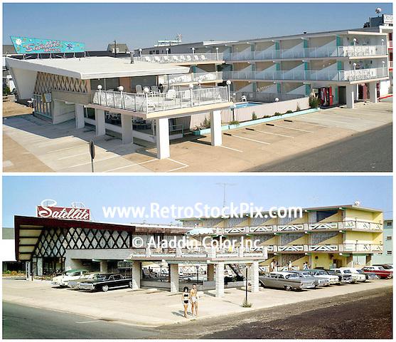 Satellite Motel Wildwood New Jersey from 1965 & 2004.
