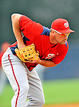 5 March 2011: Washington Nationals' third baseman Ryan Zimmerman warms up prior to a Spring Training game against the New York Yankees at George M. Steinbrenner Field in Tampa, Florida. The Nationals defeated the Yankees 10-8 in Grapefruit League action. Mandatory Credit: Ed Wolfstein Photo