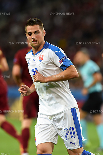 Robert Mak (Slovakia) ; <br /> June 15, 2016 - Football : Uefa Euro France 2016, Group B, Russia 1-2 Slovakia at Stade Pierre Mauroy, Lille Metropole, France.; ;(Photo by aicfoto/AFLO)