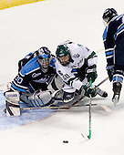 Ben Bishop (University of Maine - Des Peres, MO), Tim Crowder (Michigan State - Victoria, BC), \ms2\ - The Michigan State Spartans defeated the University of Maine Black Bears 4-2 in their 2007 Frozen Four semi-final on Thursday, April 5, 2007, at the Scottrade Center in St. Louis, Missouri.