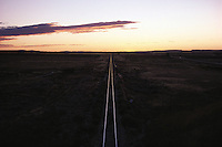 Wyoming. Railroad tracks in Douglas, located on the North Platte River near Laramie Peak and the Medicine Bow National Forest Page 133 These United States