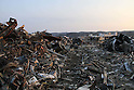 March 29, 2011, Minamisanriku, Miyagi, Japan - The town is still in ruins more than two weeks after the tsunami. The wreckage in Shizukawa stretches from the valley above all the way down to the harbor. (Photo by Wesley Cheek/AFLO) [3682]