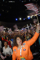 The crowd at the 2008 Democratic National Convention, August 27, 2008 at the Pepsi Center in Denver, Colorado.