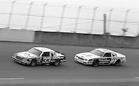 Harry Gant 33 Ricky Rudd 3 action Firecracker 400 at Daytona International Speedway in Daytona Beach, FL on July 4, 1983. (Photo by Brian Cleary/www.bcpix.com)