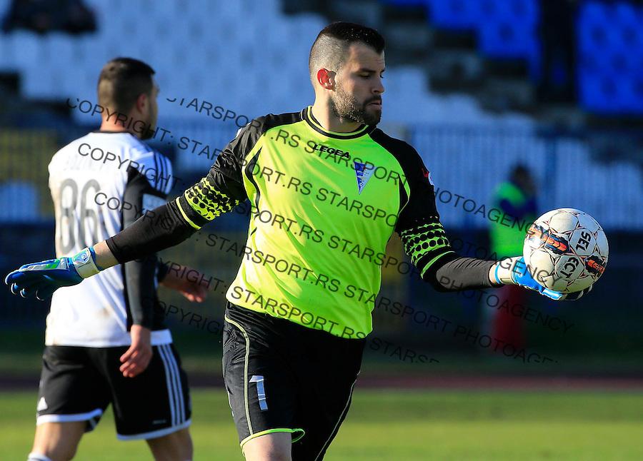 Fudbal Jelen Super League season 2015-2016<br /> Spartak v Partizan<br /> Goalkeeper Budimir Janosevic<br /> Subotica, 29.11.2015.<br /> foto: Srdjan Stevanovic/Starsportphoto&copy;