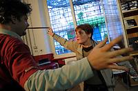 Corso di teatro di Lucia Panaro. Prove dello spettacolo.Theatre course, teacher director Lucia Panaro. Rehearsals for the show.