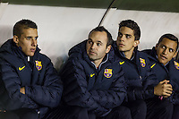 Andres Iniesta during the League match: Rayo Vallecano vs Bar?ßa