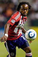 CD Chivas USA forward Chukwudi Chijindu (77) moves towards the ball. The Philadelphia Union and CD Chivas USA played to 1-1 draw at Home Depot Center stadium in Carson, California on Saturday evening July 3, 2010..
