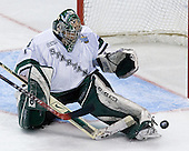 Jeff Lerg (Michigan State - Livonia, MI) makes a save. The Michigan State Spartans defeated the University of Maine Black Bears 4-2 in their 2007 Frozen Four semi-final on Thursday, April 5, 2007, at the Scottrade Center in St. Louis, Missouri.