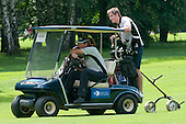 Valter Birsa, Slovenian football player, driving with golf cart at Anze's Eleven and SKB Charity Golf Tournament, on June 11, 2011 in Golf court Bled, Slovenia. (Photo by Matic Klansek Velej / Sportida)