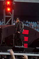 Jay-Z performing at Etihad Stadium, Melbourne supporting U2 on their 360 tour, 1 December 2010