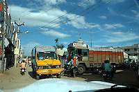 Town of  Tirupur, Tamilnadu. After lifting of quota system in textile export on 1st january 2005. Tirupur has become the biggest foreign currency earning town of India.