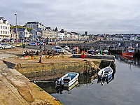 Portstewart, Co Londonderry, N Ireland, UK, view along the seafront with the harbour in the foreground. 200509100001...Copyright Image from Victor Patterson, 54 Dorchester Park, Belfast, UK, BT9 6RJ..Tel: +44 28 9066 1296.Mob: +44 7802 353836.Voicemail +44 20 8816 7153.Skype: victorpattersonbelfast.Email: victorpatterson@mac.com.Email: victorpatterson@ireland.com (back-up)..IMPORTANT: If you wish to use this image or any other of my images please go to www.victorpatterson.com and click on the Terms & Conditions. Then contact me by email or phone with the reference number(s) of the image(s) concerned.