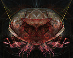 A conceptual image of a crab like face