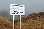 Spoof SSSI sign, Angus, Scotland