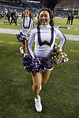 Sept 01, 2012:  Washington cheerleader Dianna Won against San Diego State.  Washington defeated San Diego State 21-12 at CenturyLink Field in Seattle, Washington...