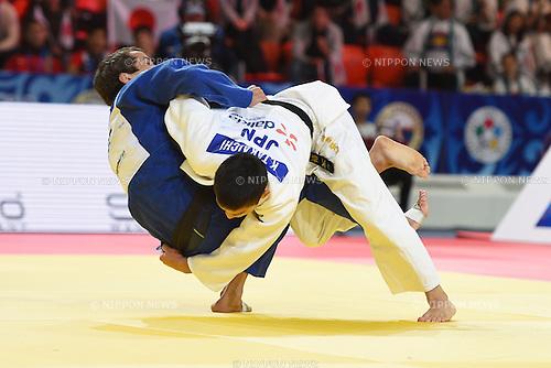 Kengo Takaichi (JPN), AUGUST 25, 2015 - Judo : World Judo Championships Astana 2015 Men's -66kg 1st round at Alau Ice Palace in Astana, Kazakhstan. (Photo by AFLO SPORT)