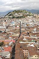 Statue of the Virgen de Quito over cerro panecillo.