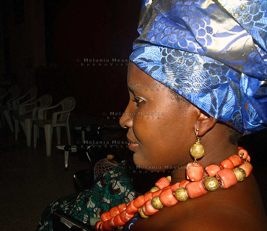 donna dell'associazione &quot;Ragazze di Benin city&quot; contro la tratta di esseri umani. <br />  woman of the association &quot;Ragazze di Benin city&quot; against human trafficking