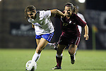 15 September 2011: Duke's Callie Simpkins (6) and Charleston's Allison Truitt (17). The Duke University Blue Devils defeated the College of Charleston Cougars 3-0 at Koskinen Stadium in Durham, North Carolina in an NCAA Division I Women's Soccer game.