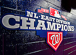 14 April 2013: A new Washington Nationals NL Eastern Division Championship Sign is displayed outside the Presidents Club prior to a game against the Atlanta Braves at Nationals Park in Washington, DC. The Braves shut out the Nationals 9-0 to sweep their 3-game series. Mandatory Credit: Ed Wolfstein Photo *** RAW (NEF) Image File Available ***