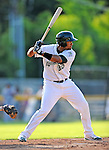 2 July 2011: Vermont Lake Monsters catcher Diomedes Lopez in action against the Tri-City ValleyCats at Centennial Field in Burlington, Vermont. The Lake Monsters rallied from a 4-2 deficit to defeat the ValletCats 7-4 in NY Penn League action. Mandatory Credit: Ed Wolfstein Photo