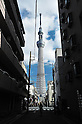 November 13, 2011, Tokyo, Japan - Tokyo Sky Tree stands tall in downtown Tokyo on Sunday, November 13, 2011. The 634-meter-high terrestrial digital broadcasting tower will be recognized by Guiness World Records as the worlds tallest senf-standing tower in a ceremony on Thursday. (Photo by Masahiro Tsurugi/AFLO) [2910] -mis-