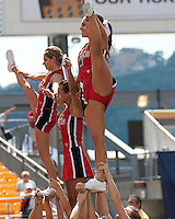 The Youngstown State cheerleaders. The Pittsburgh Panthers defeated the Youngstown State Penguins 38-3 at Heinz Field on September 5, 2009.