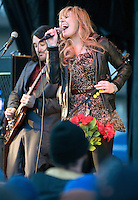 NEWS&GUIDE PHOTO / PRICE CHAMBERS.Grace Potter and the Nocturnals jam at the Jackson Hole Mountain Festival on Saturday, March 27, 2010.