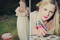 Alice in Wonderland theme styled wedding photography, Brighton.