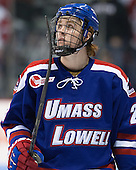Scott Wilson (UML - 23) - The visiting University of Massachusetts Lowell River Hawks defeated the Boston University Terriers 3-0 on Friday, February 22, 2013, at Agganis Arena in Boston, Massachusetts.