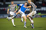 St Mirren v St Johnstone.....02.02.13      Scottish Cup.Steven MacLean and Jim Goodwin.Picture by Graeme Hart..Copyright Perthshire Picture Agency.Tel: 01738 623350  Mobile: 07990 594431