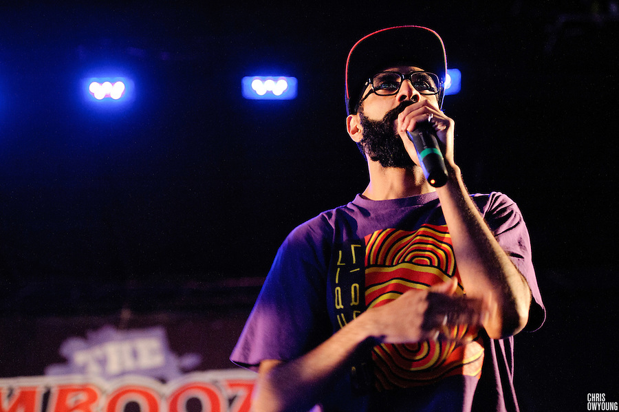 Das Racist performs at the Bamboozle Music Festival. Meadowlands Sports Complex, East Rutherford, NJ.  April 30, 2011. Copyright © 2011 Chris Owyoung.