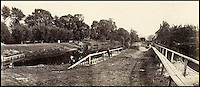 BNPS.co.uk (01202 558833)<br /> Pic: Bonhams/BNPS<br /> <br /> Prout's picture of the Romney lock on the approach to Windsor.<br /> <br /> 'Old man river, he just keeps rollin' - A remarkable collection of panoramic photographs of the Thames taken 160 years ago have emerged for auction, and they reveal how little the famous old river has changed in the last century and a half.<br /> <br /> They follow the river from London to Oxford in 40 photographs providing a fascinating insight into how the famous river looked in the mid-19th century.<br /> <br /> Londoner Victor Prout started photographing the Thames in 1857 using a camera which would produce wide-vision images because of a lens that swung round and 'scanned' sections of the picture.<br /> <br /> This rare complete copy of the first edition of Prout's pioneering panoramics has emerged for auction and is tipped to sell for &pound;12,000 when they go under the hammer at Bonhams on March 1.